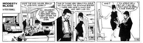 Модести Блейз в комиксах