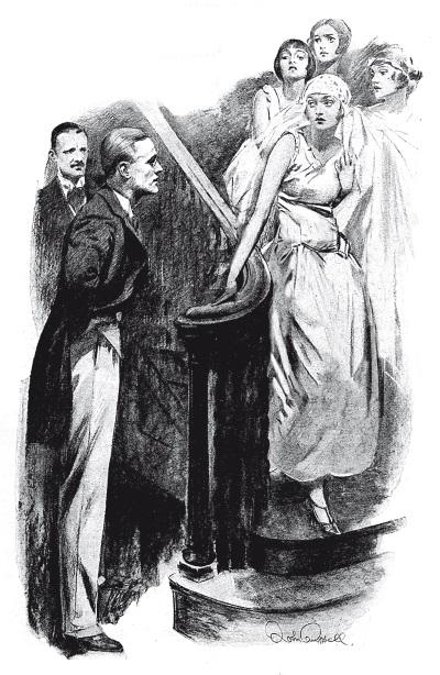 """Иллюстрация к рассказу """"Искомый предмет"""" в журнале """"Пирсоне"""", художник Джон Кэмпбелл"""
